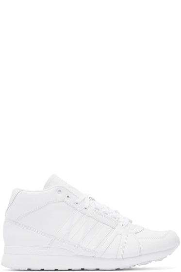 adidas x White Mountaineering - White Leather ZX500HI High-Top Sneakers