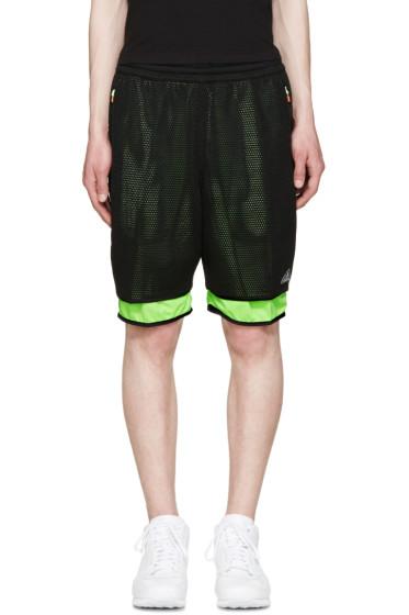 Adidas x Kolor - Black Mesh Layered Shorts