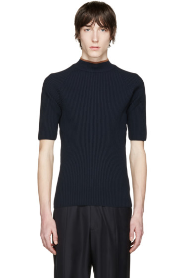 CMMN SWDN - Navy Ribbed Shea Sweater