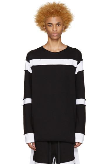 UEG - Black & White Sliced Pullover