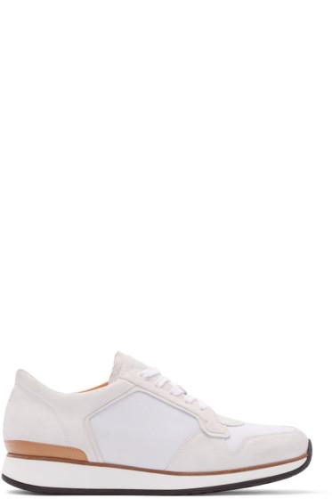 No.288 - Grey Suede & Mesh Bleecker Low-Top Sneakers