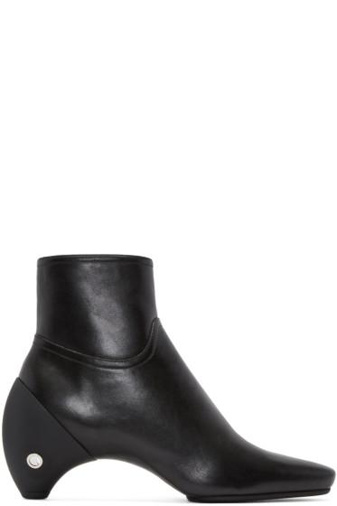 Courrèges - Black Leather Gogo Boots