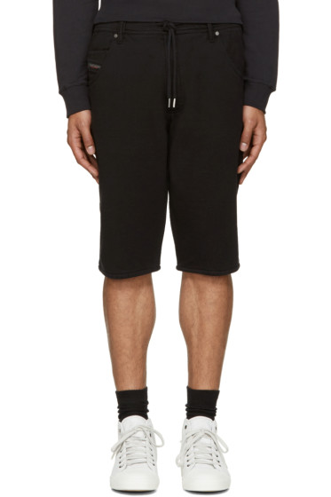 Diesel - Black Knit Kroshort Shorts