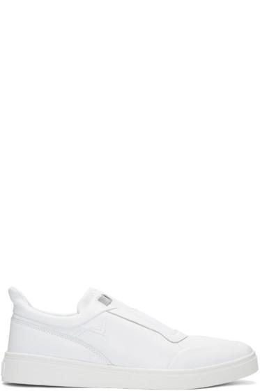 Diesel - White S-Hype Slip-On Sneakers