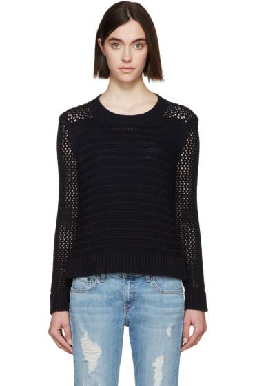 Rag & Bone - Navy Knit Annie Sweater