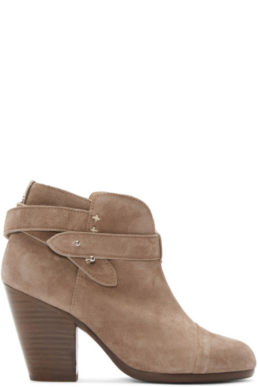 Rag & Bone - Grey Suede Harrow Boots