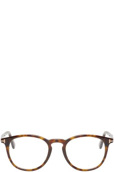 Tom Ford - Tortoiseshell Round FT5401 Glasses