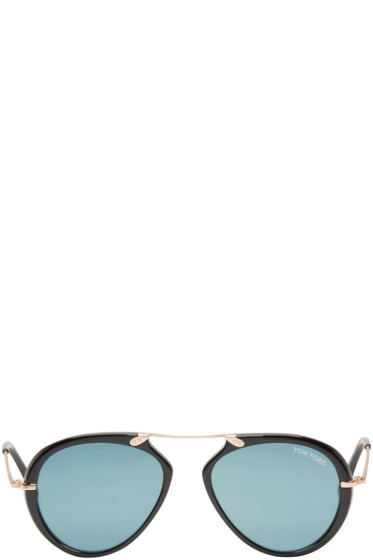 Tom Ford - Black Aaron Aviator Sunglasses