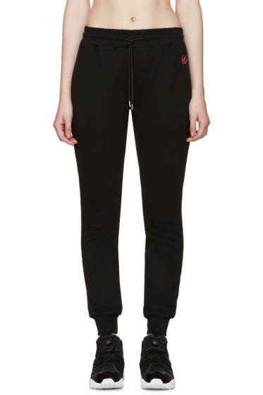 McQ Alexander Mcqueen - Black Embroidered Lounge Pants