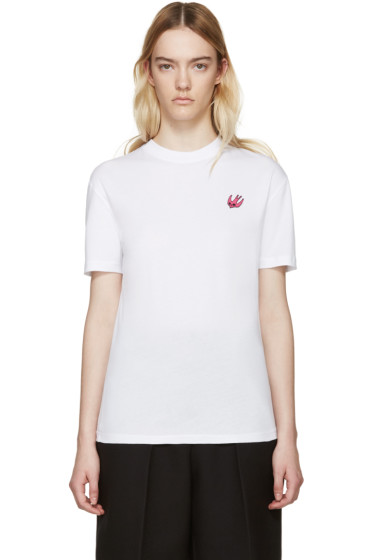McQ Alexander Mcqueen - White Embroidered T-Shirt