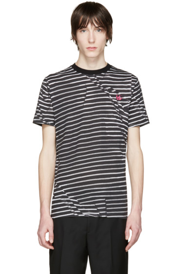 McQ Alexander Mcqueen - Black & Grey Distort T-Shirt
