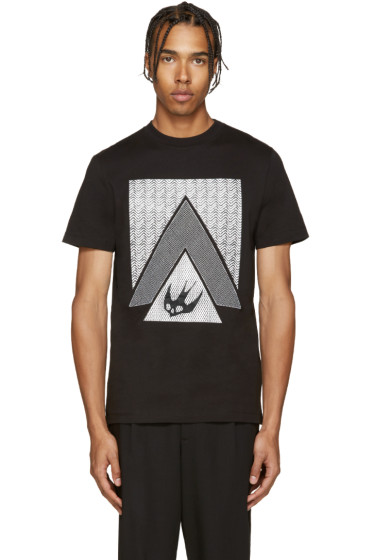 McQ Alexander Mcqueen - Black Print T-Shirt