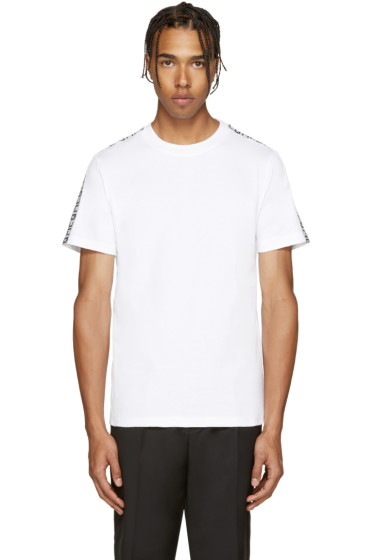 McQ Alexander Mcqueen - White Tape T-Shirt