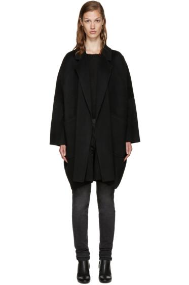 Helmut Lang - Black Wool Oversize Coat