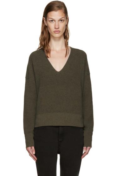 Helmut Lang - Green Cotton & Cashmere Sweater