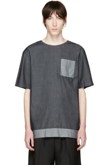 Helmut Lang - Indigo Oversized Chambray T-shirt