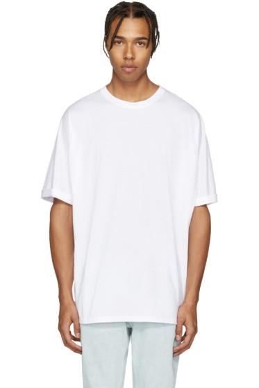 Helmut Lang - White Oversized T-Shirt