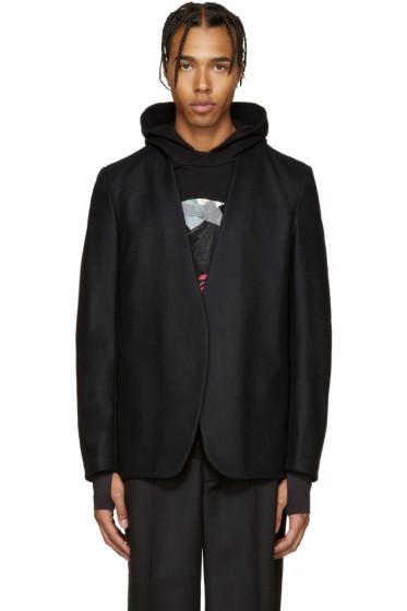 Maison Margiela - Black Wool Deconstructed Blazer