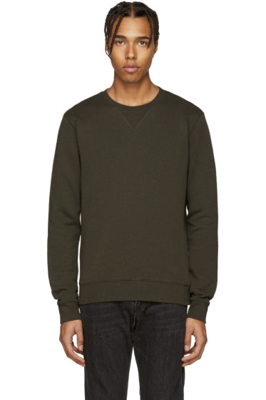 Maison Margiela - Green Elbow Patch Pullover