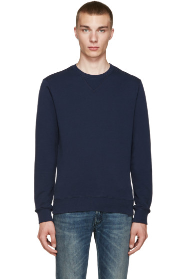 Maison Margiela - Navy Elbow Patch Pullover