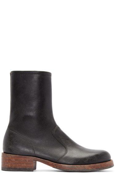 Maison Margiela - Black Leather Replica Boots