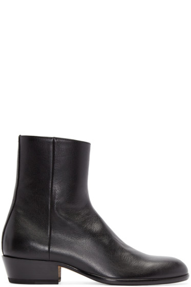 Maison Margiela - Black Leather Tuxedo Boots