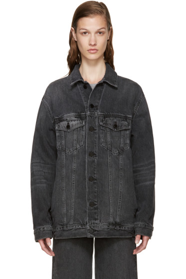 Alexander Wang - Grey Denim Dazed Jacket