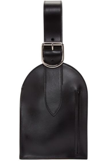 MM6 Maison Margiela - Black Luggage Tag Pouch