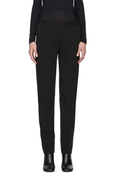 MM6 Maison Margiela - Black Twill Tuxedo Trousers