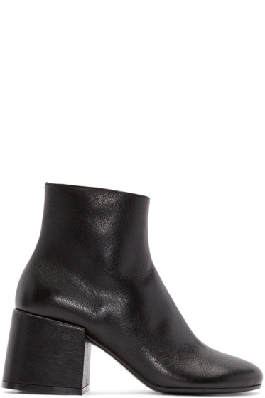 MM6 Maison Margiela - Black Leather Boots