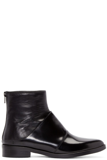 MM6 Maison Margiela - Black Fake Mule Boots