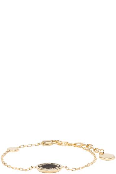 Marc Jacobs - Gold Enamel Logo Disc Chain Bracelet