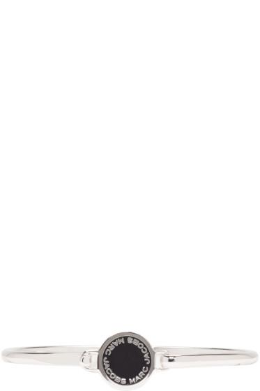 Marc Jacobs - Silver Enamel Logo Disc Bracelet