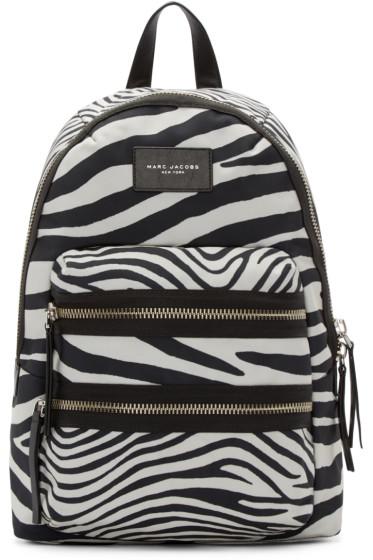 Marc Jacobs - Black & Off-White Zebra Biker Backpack