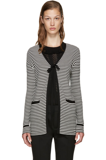 Marc Jacobs - Black & White Striped Cardigan