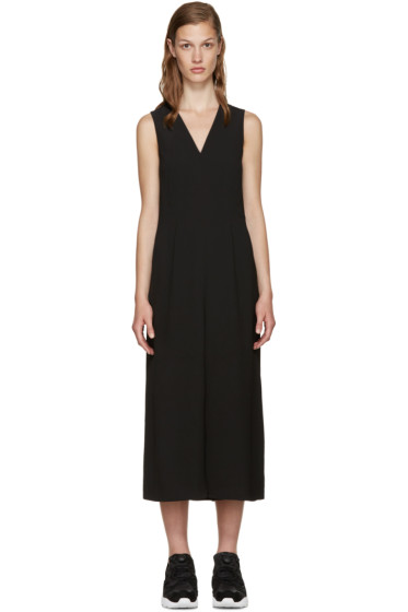 T by Alexander Wang - Black Twill Wide-Leg Jumpsuit