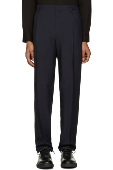 Lanvin - Navy Wide-Leg Trousers