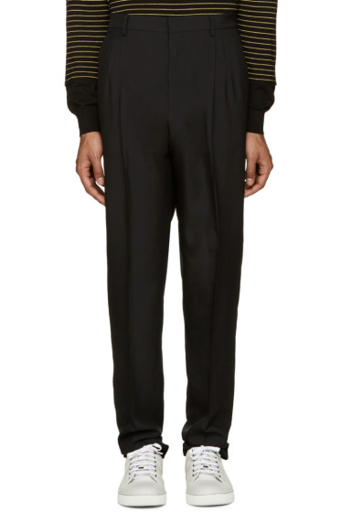 Lanvin - Black Pleated Trousers