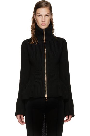 Alexander McQueen - Black Wool Zip-Up Sweater