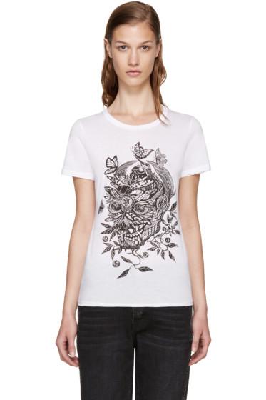 Alexander McQueen - White Skull Print T-Shirt