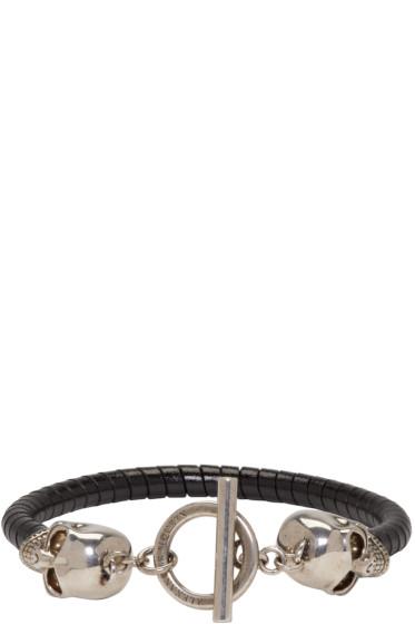 Alexander McQueen - Black Double Skull Bracelet
