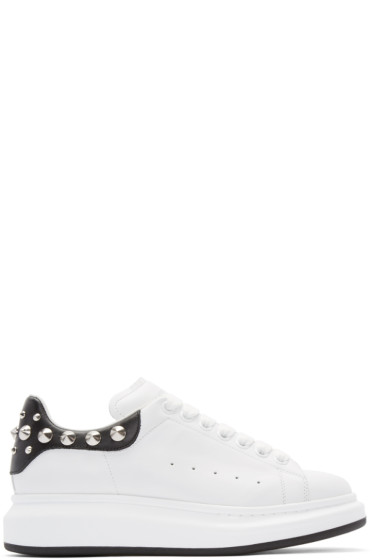 Alexander McQueen - White & Black Studded Sneakers