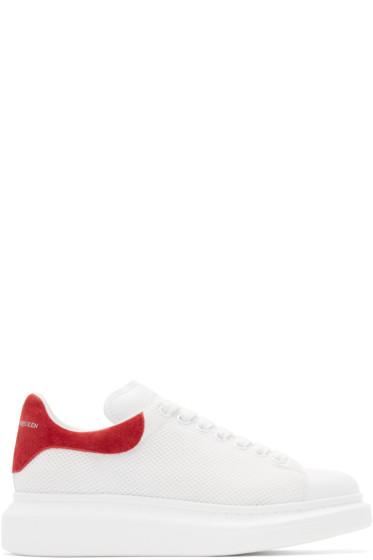 Alexander McQueen - White & Red Mesh Sneakers