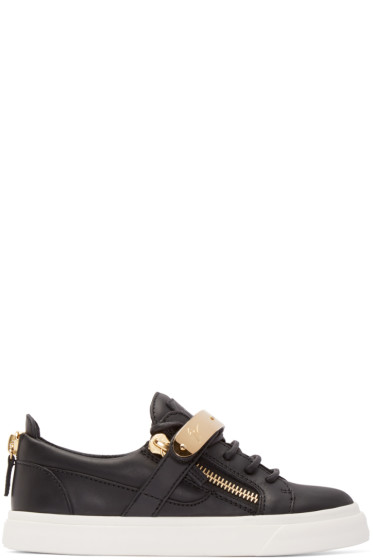 Giuseppe Zanotti - Black Leather London Low-Top Sneakers