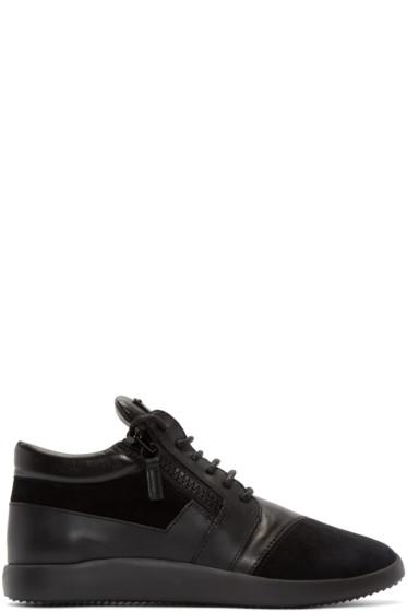 Giuseppe Zanotti - Black Singles Mid-Top Sneakers
