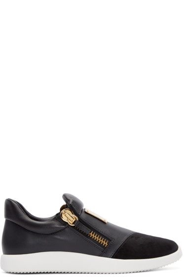 Giuseppe Zanotti - Black Leather Singles Sneakers