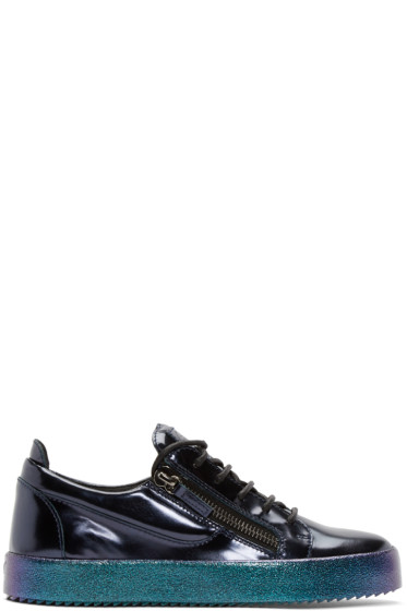 Giuseppe Zanotti - Blue Patent Leather London Sneakers