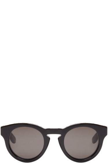 Givenchy - Black Round Studded Sunglasses