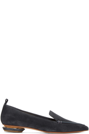 Nicholas Kirkwood - Grey Suede Beya Loafers