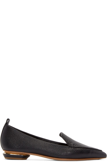 Nicholas Kirkwood - Black Leather Beya Loafers